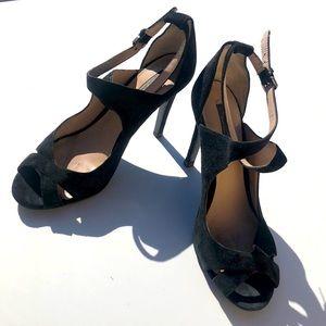 ZARA Open toe strappy heels